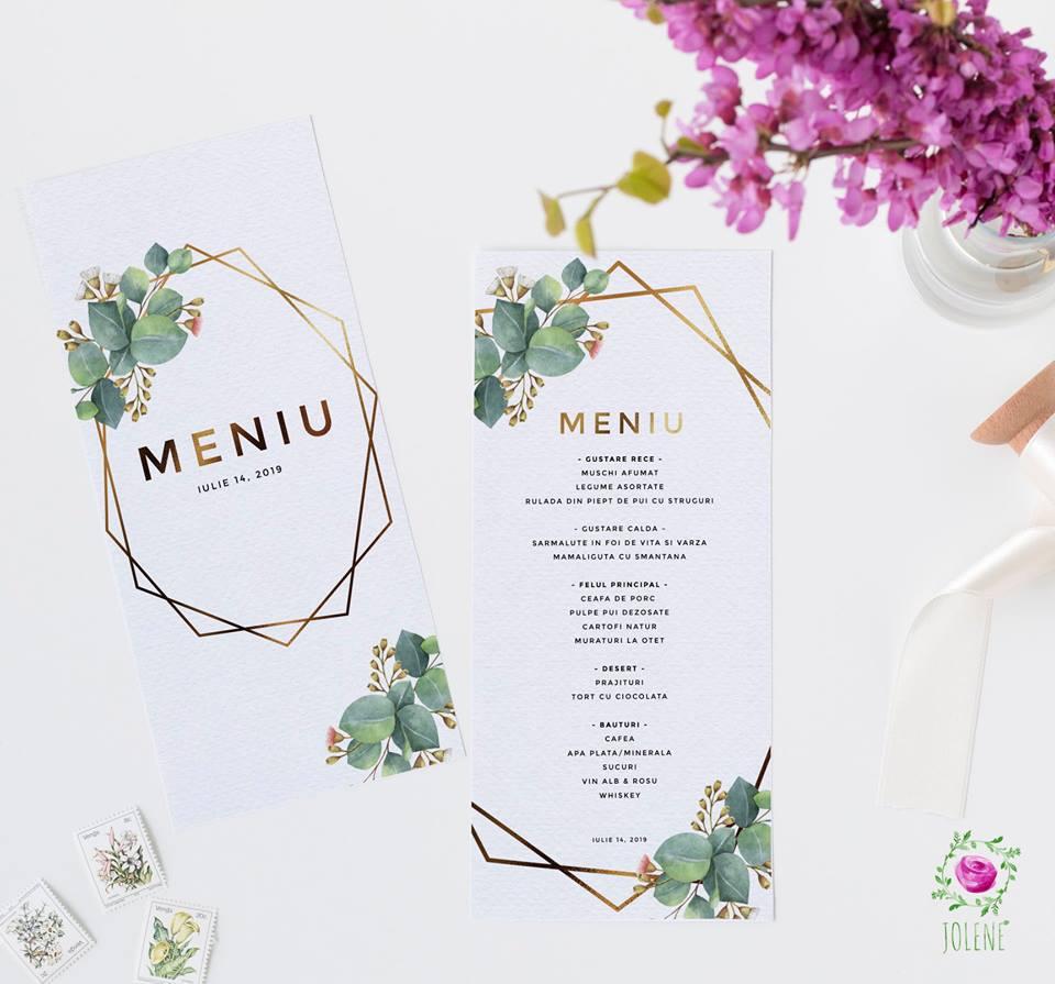 Meniu Nuntă Invitații Nuntă Accesorii Nuntă Jolene