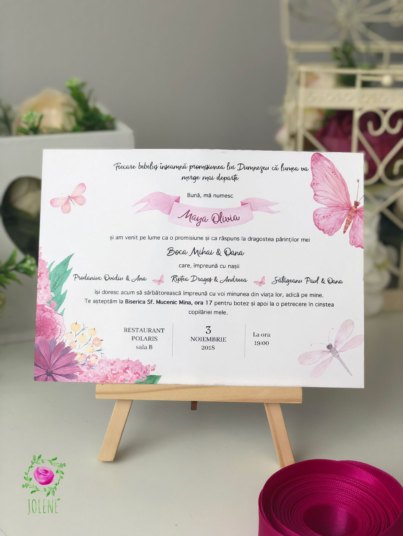 Invitație De Botez Papetărie De Botez Invitații Personalizate De