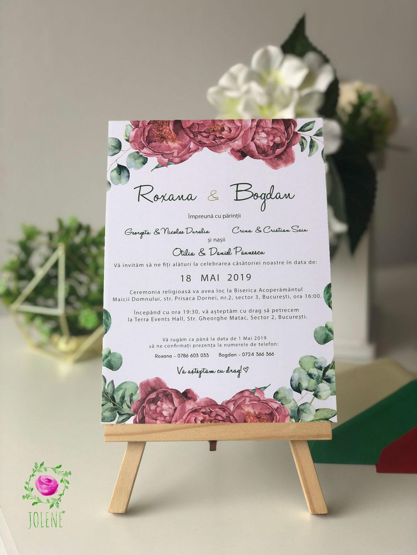 Invitație De Nuntă Green Papetărie De Nuntă Invitații De Nuntă